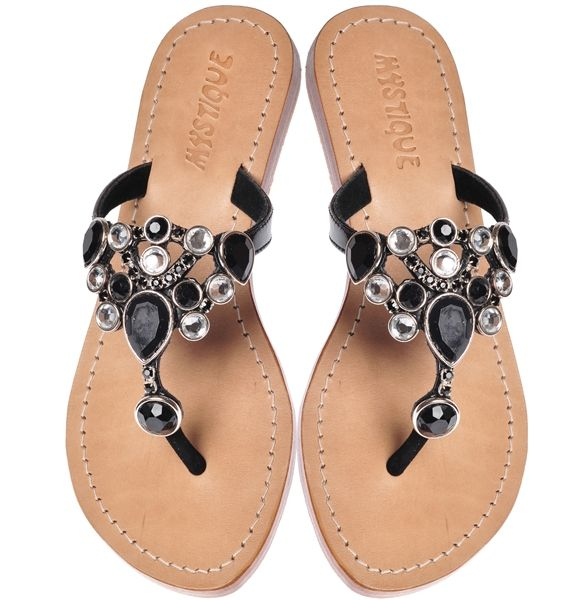 Black Tie Event Jeweled Sandals