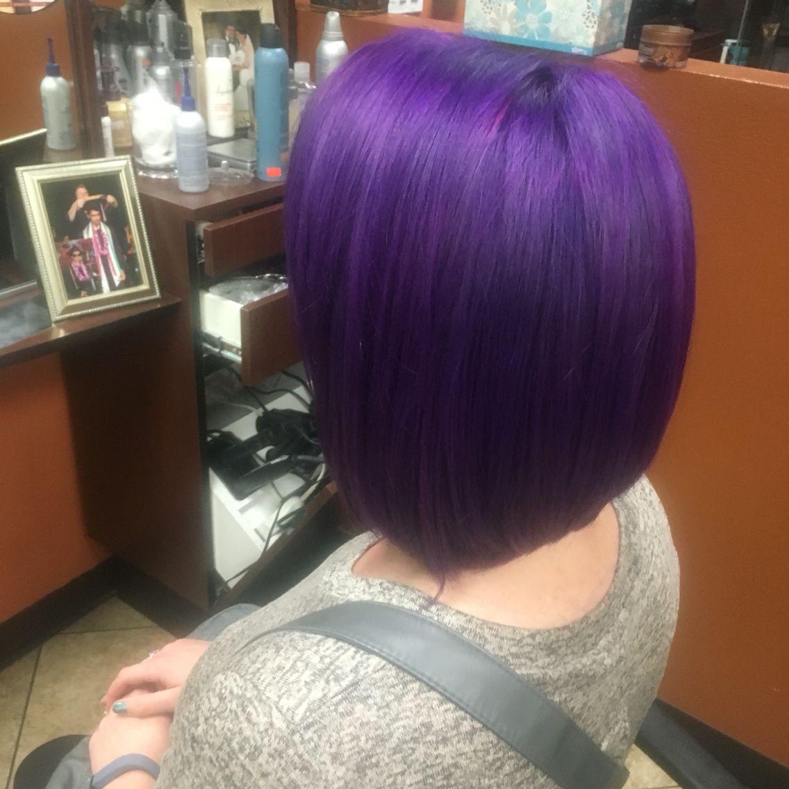 # purplecolor#haircut