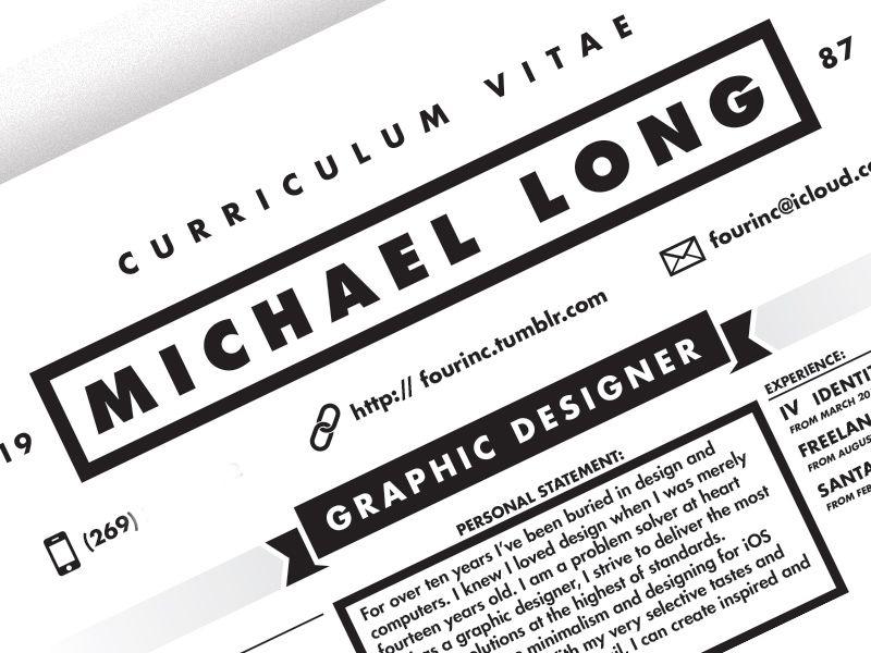 Curriculum Vitae Curriculum, Resume design and Design styles - header for resume