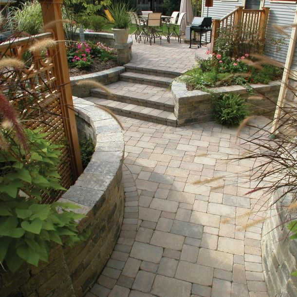 unilock brussels block coffee creek google search patio designexterior - Unilock Patio Designs