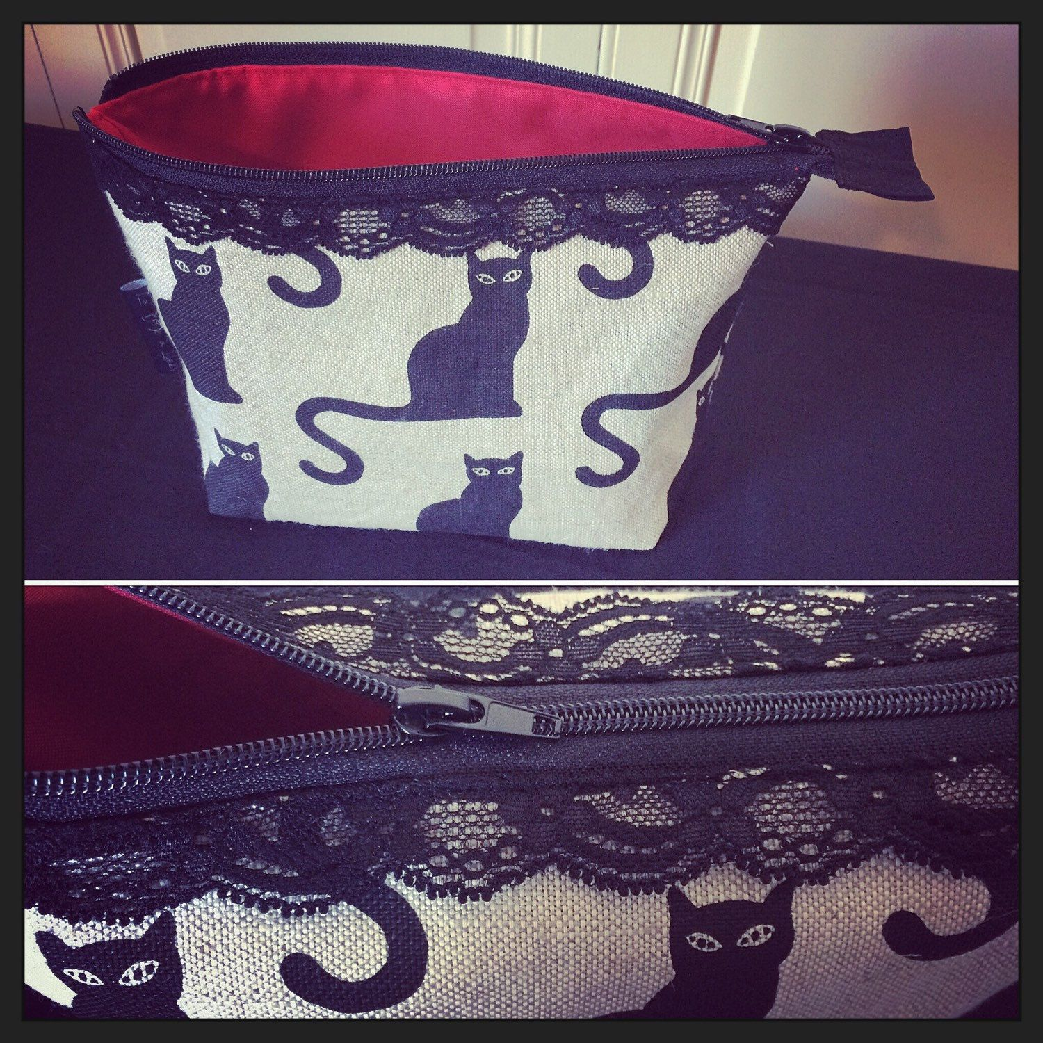 Wash bag / Toiletry bag / Cosmetic bag by TextileReversible on Etsy
