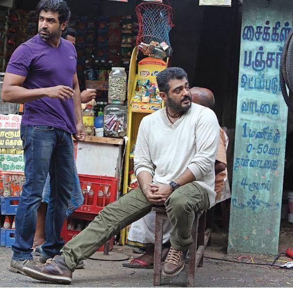 Ajith Kumar and Arun Vijay at Thala 55 Location | Yennai ...