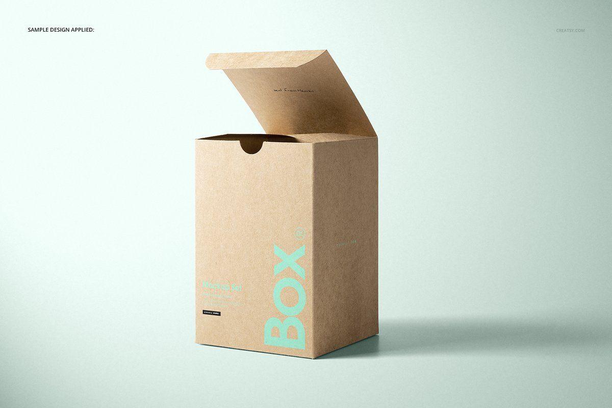 Download Kraft Tuck Top Gift Box Mockups Set Box Mockup Top Gifts Kraft