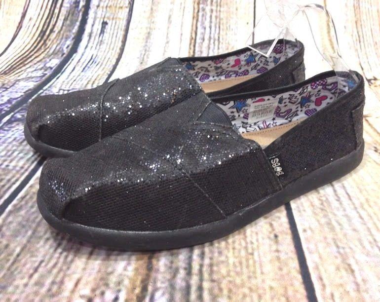 LIL BOBS Skechers Black Glitter Sparkle