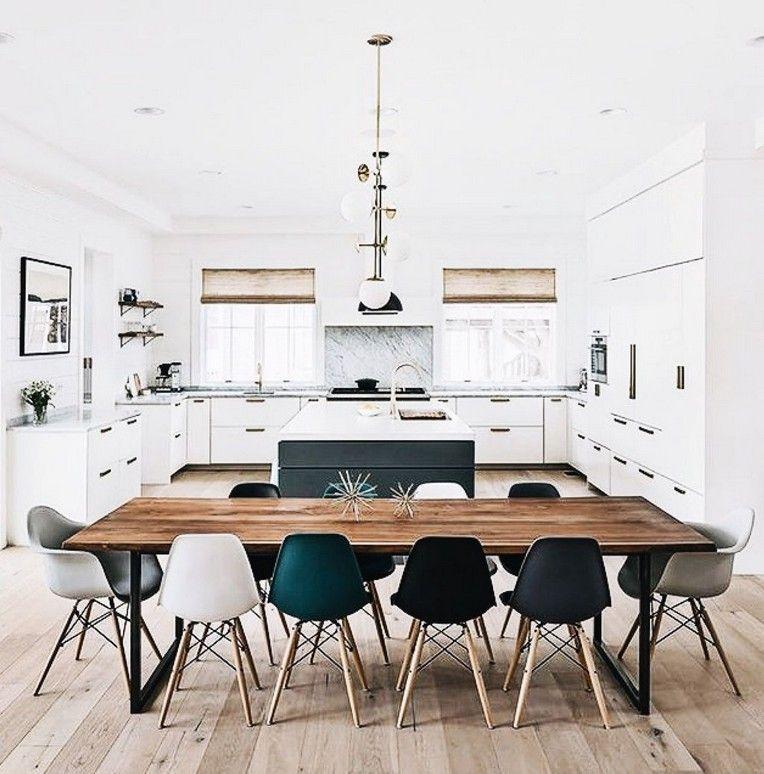 46 Amazing Open Dining Room And Kitchen Design Ideas Bauernhaus