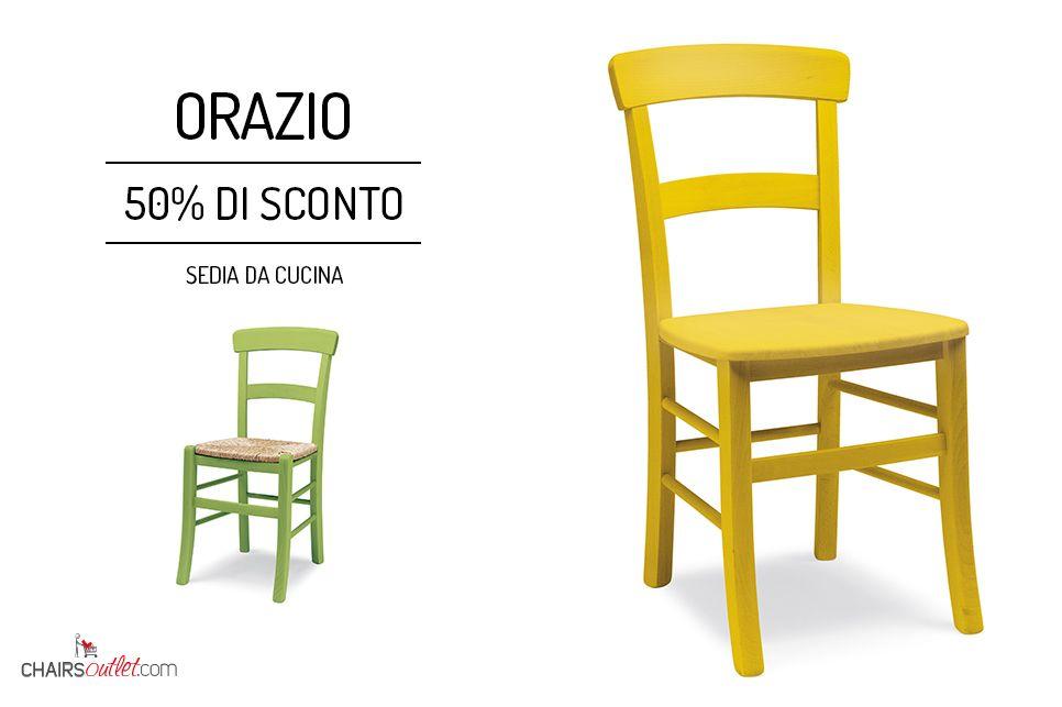 € 58,00 #SCONTO 50% Made in #Italy #sedia #rustica ORAZIO ...