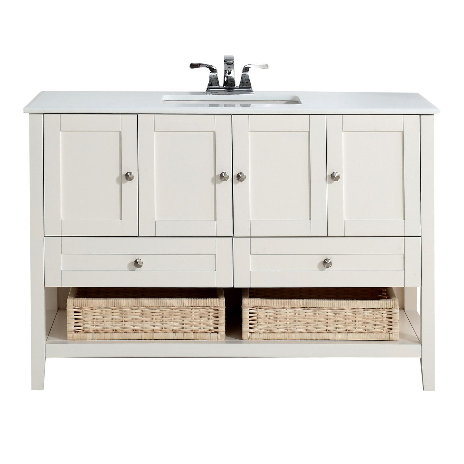 "Simpli Home Cape Cod 49"" Single Bathroom Vanity Set"
