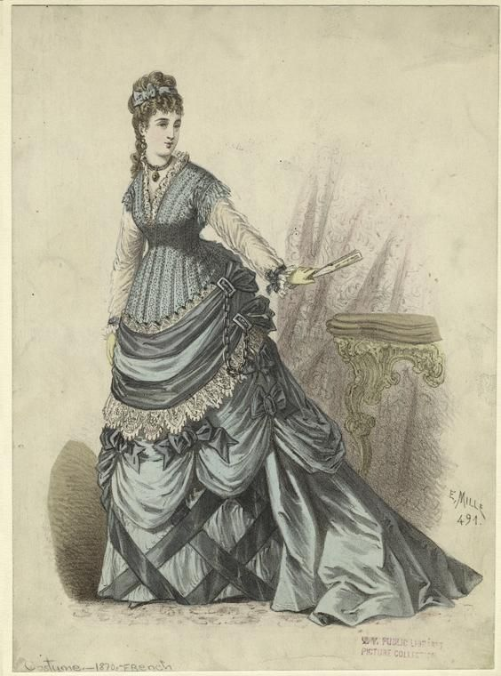 Fashion plate, 1870's France