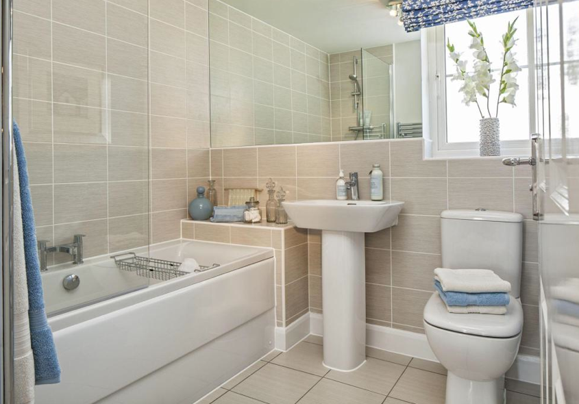 Designer Bathroom Prepossessing Barratt Homes  Keepers Chase Cannock  This Is The Ashford Design Ideas