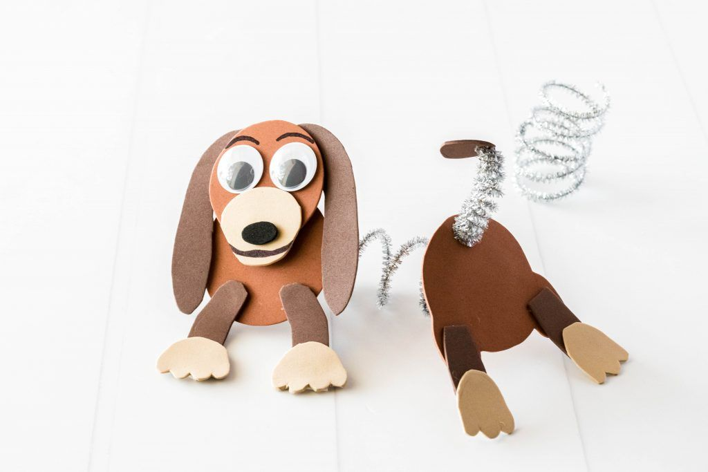 Toy Story Slinky Dog An Easy Toy Story Craft Toy Story Crafts