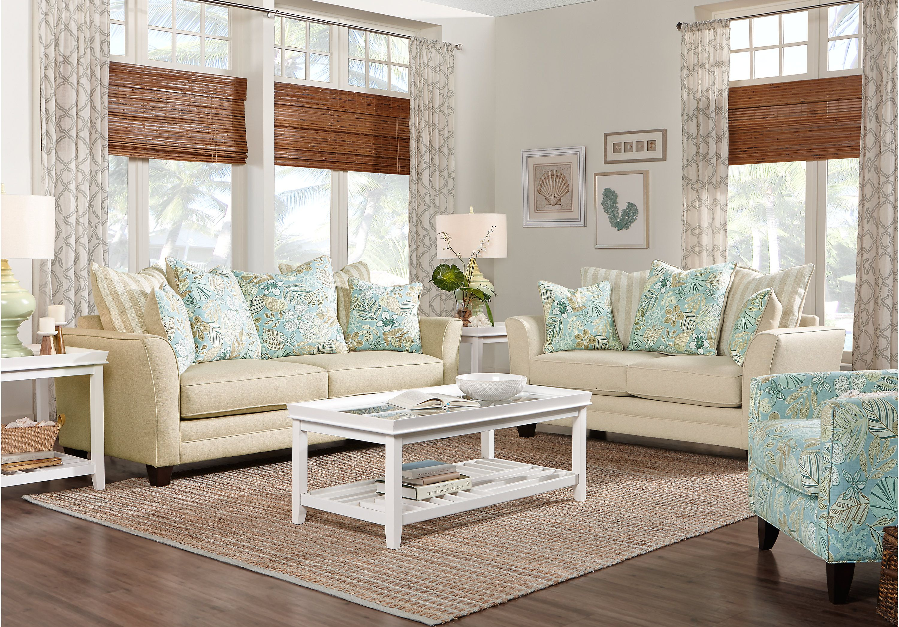 Cheap Living Room Design Picture Of Coastal Grove Khaki 7 Pc Living Room From Living Room