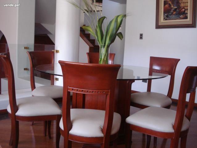 comedor redondo de 6 sillas y vidrio home decor