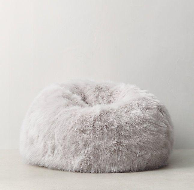 Restoration Hardware Beanbag Chair Folding Vector Art Teen Kashmir Faux Fur Bean Bag Bags Kate Messenger Shop For Mens Ad