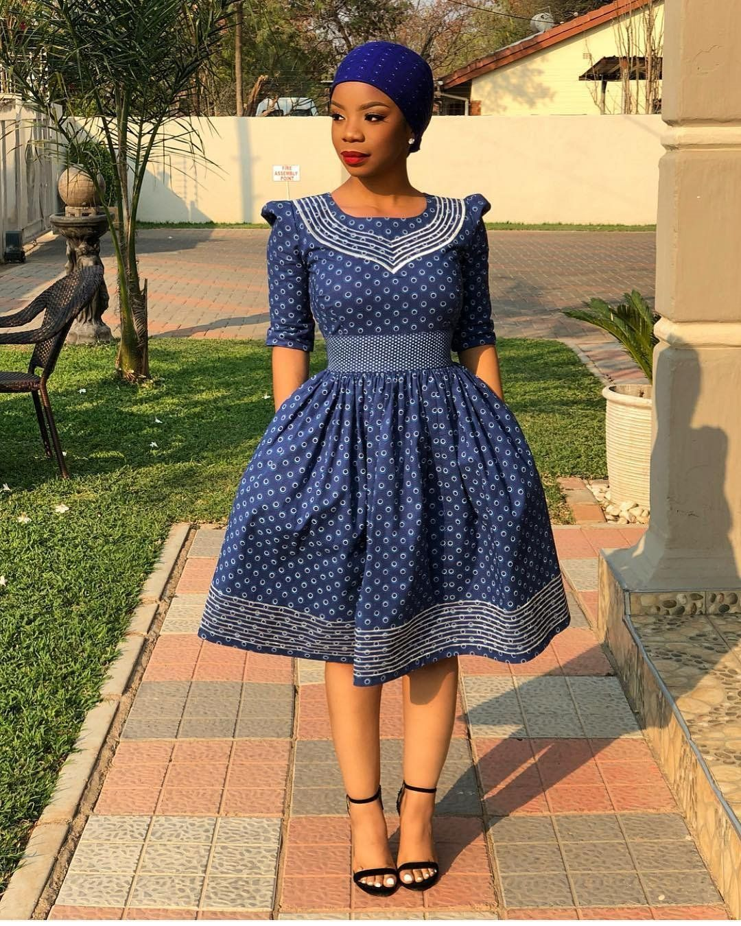 South African Shweshwe Dress Designs 2019 African print