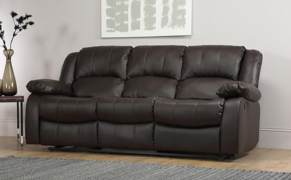 Dakota Brown Leather 3 Seater Recliner Sofa | Reclining sofa ...