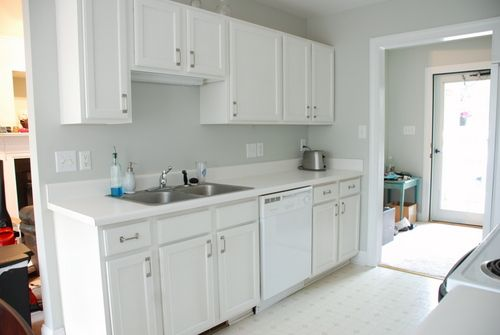 Painted Kitchen Cabinets Benjamin Moore Glacier White Kitchens