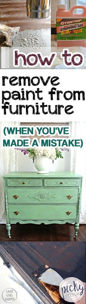How To Remove Paint From Furniture (When Youu0027ve Made A Mistake