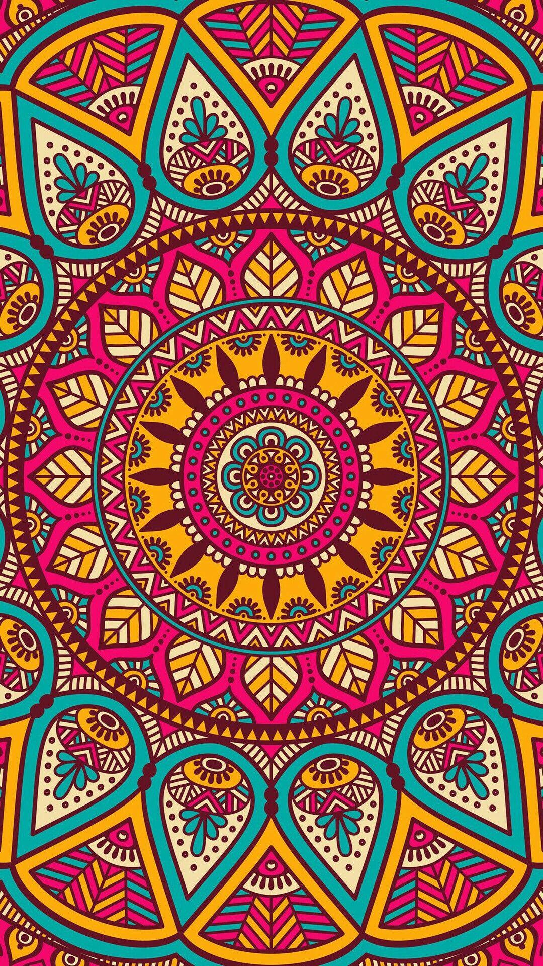 Color art mandala wonders - Wallpaper Lockscreen Mandala
