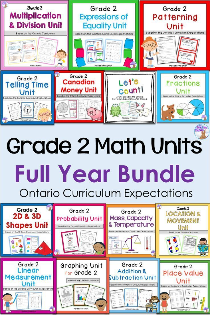 This full year math bundle for Grade 2 is aligned with the Ontario  Curriculum and contains 15 units with workshee…   Ontario curriculum [ 1104 x 736 Pixel ]