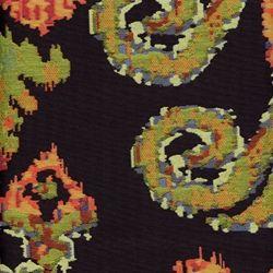 Genovia Onyx Large Woven Ikat Design Upholstery Fabric