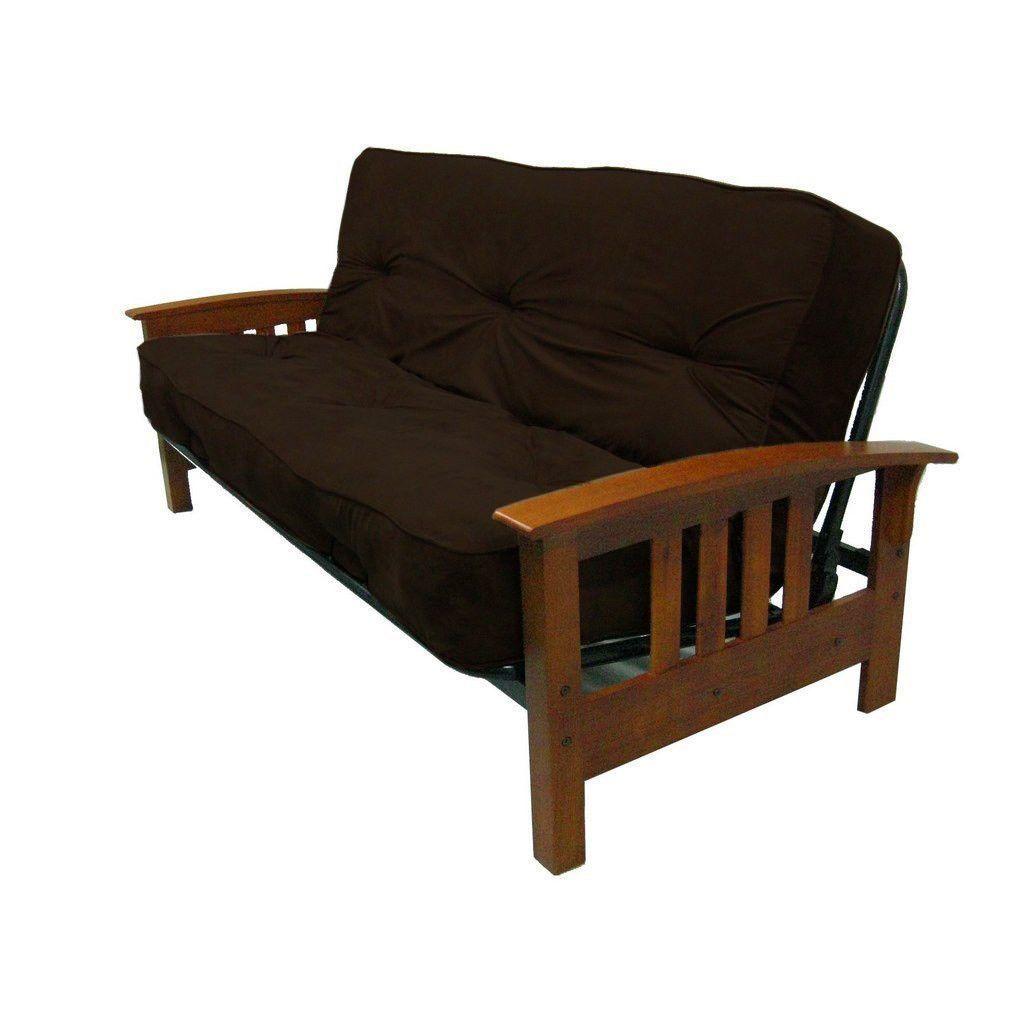 8 inch thick full size premium coil futon mattress with chocolate futon cover 8 inch thick full size premium coil futon mattress with chocolate      rh   pinterest