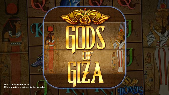 Play Gods of Giza slots at Vegas Paradise. This game has many attractive aspects that makes it unique among all Egyptian themed video #slots !!  Get £5 as Sign up Bonus now!
