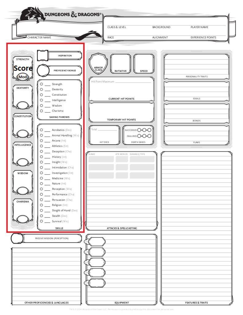 D&D 5E Character Creation   DnD/LARP   Pinterest   Character ...
