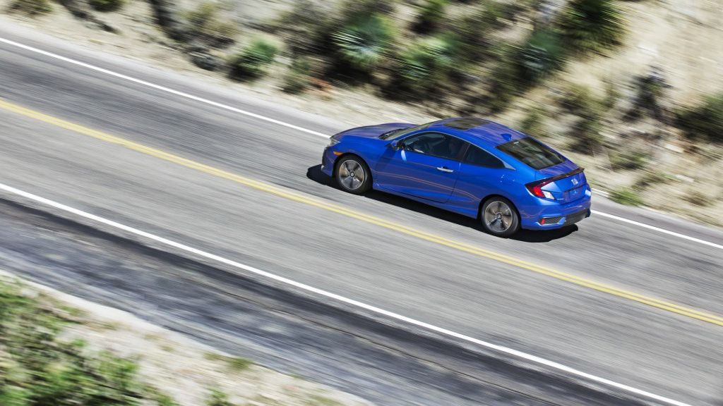 Race to the weekend in the 2017 Honda Civic Coupe with its