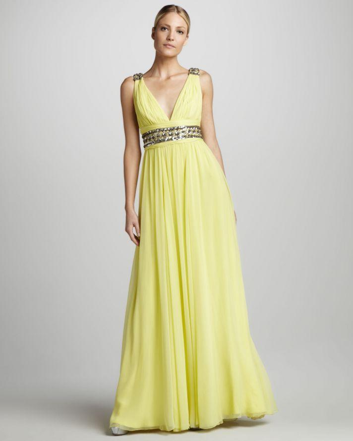 Yellow maid of honour dresses