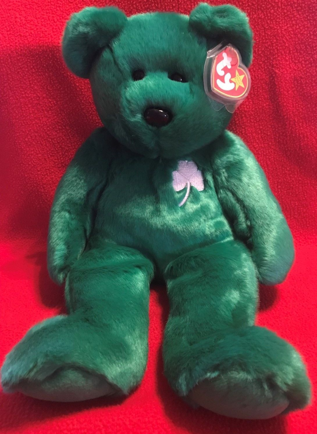 TY Beanie Buddy ERIN the Irish Bear 14 MWMT 1999 Vintage Stuffed Animal Toy c32b64a9d2f