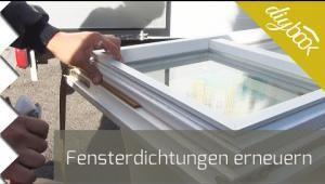 Fensterdichtungen selbst erneuern Fenster, Dichtung und