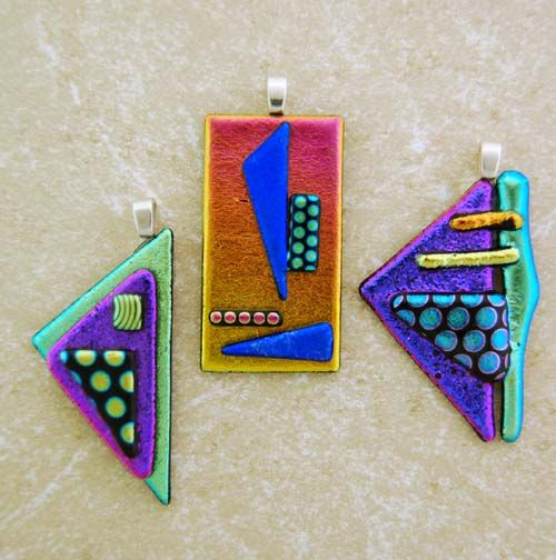 how to make dichroic glass jewelry at home