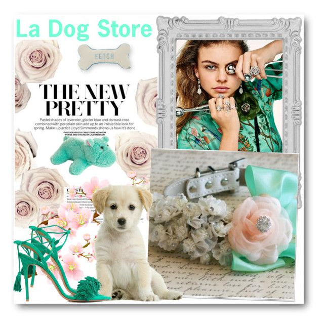 """""""La Dog Store 9"""" by fashionmonsters ❤ liked on Polyvore featuring Paperchase, Aquazzura and Draper James"""