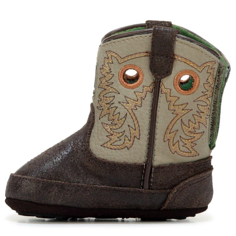 Kids John Deere Johnny Popper Round Toe Cowboy Boot BabyToddler ChocolateGrey