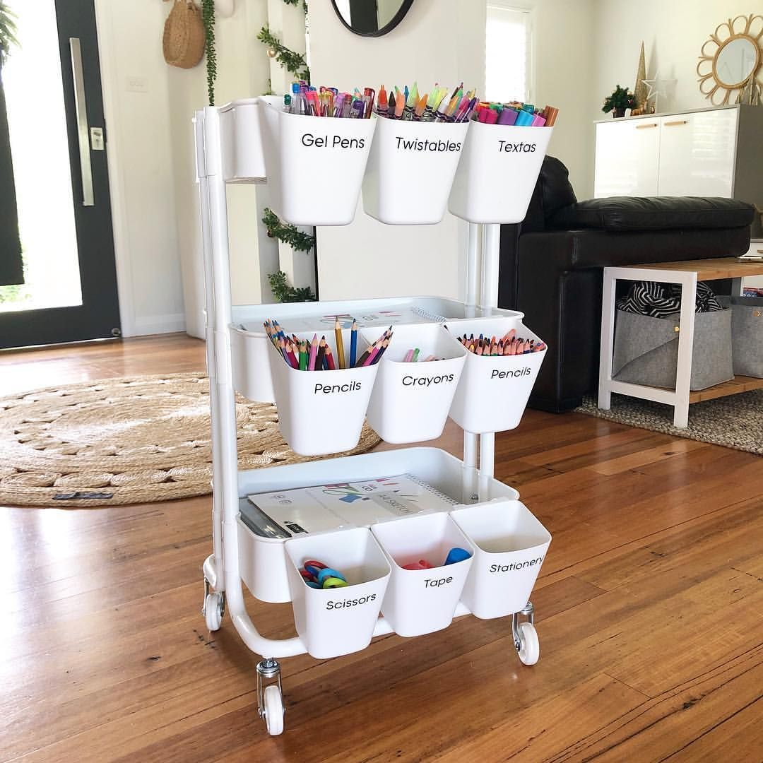 """Photo of Excellent Snap Shots HOME ORGANISATION WITH LYNDALL on Instagram: """"A R T  C A R T 🖤 . Wanna know how I'm planning to keep my kiddos entertained in the lead up to Christmas while I'm running around like a…"""" Concepts – prosel pin blog"""