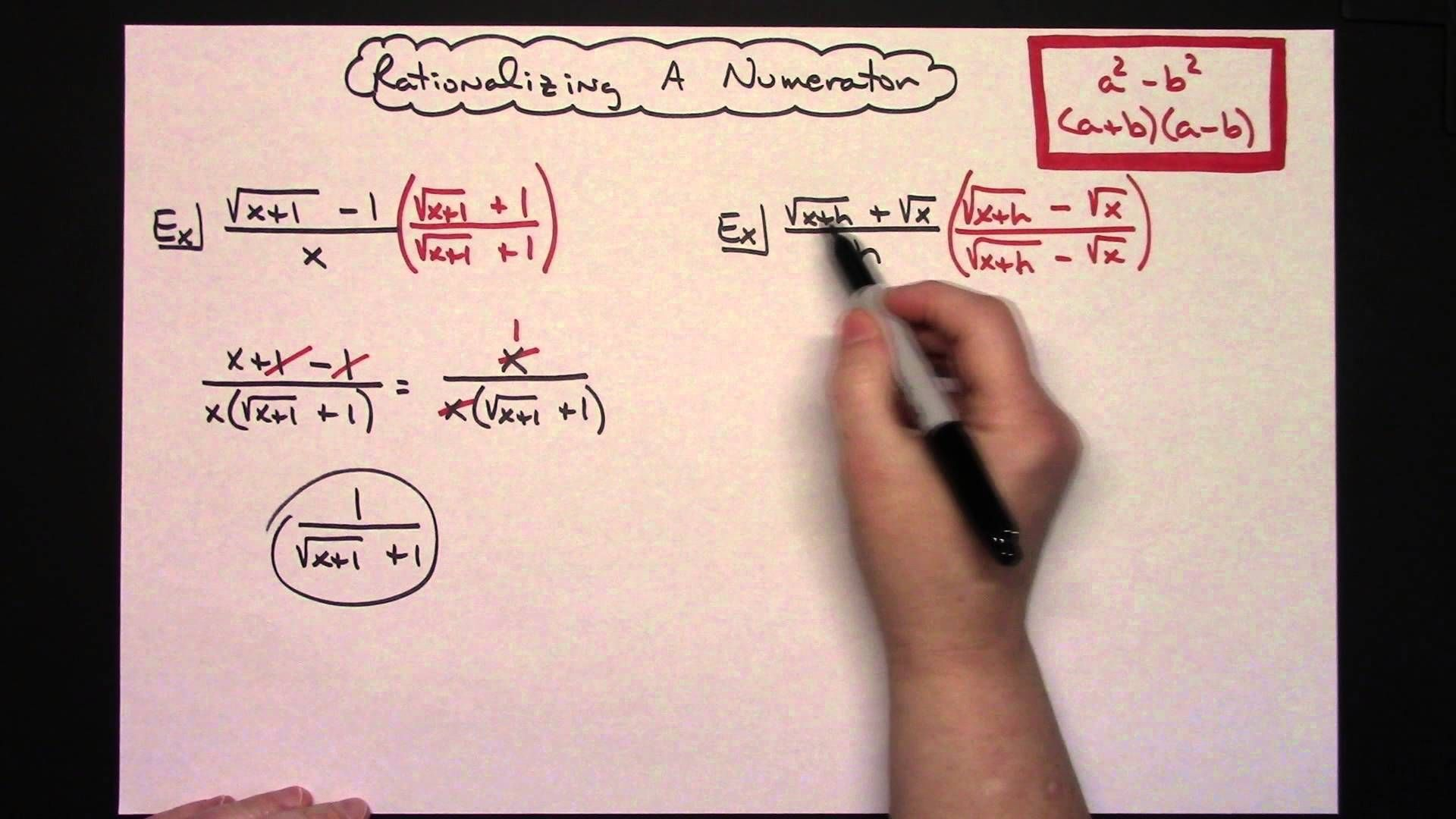 Rationalizing The Numerator An Algebra Skill Needed For Calculus Calculus Algebra Quadratics Addition rational expression calculator