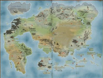 Dragonball World Map From The Anime It S Over 9000 Imaginary