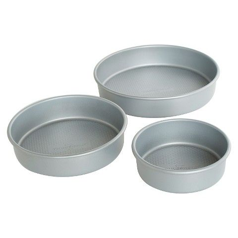 Threshold 3pc Round Cake Pan Set 8 10 12