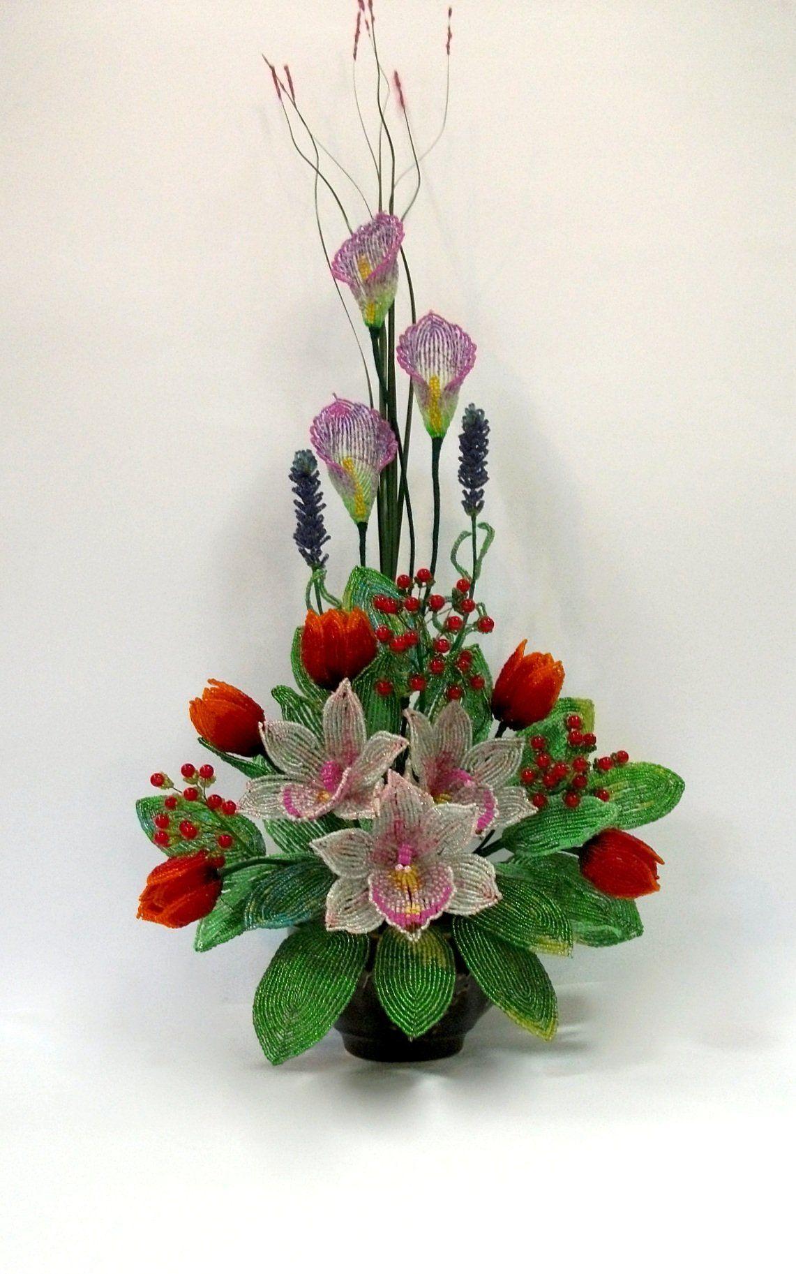Цветов, цветы букеты композиции из бисера