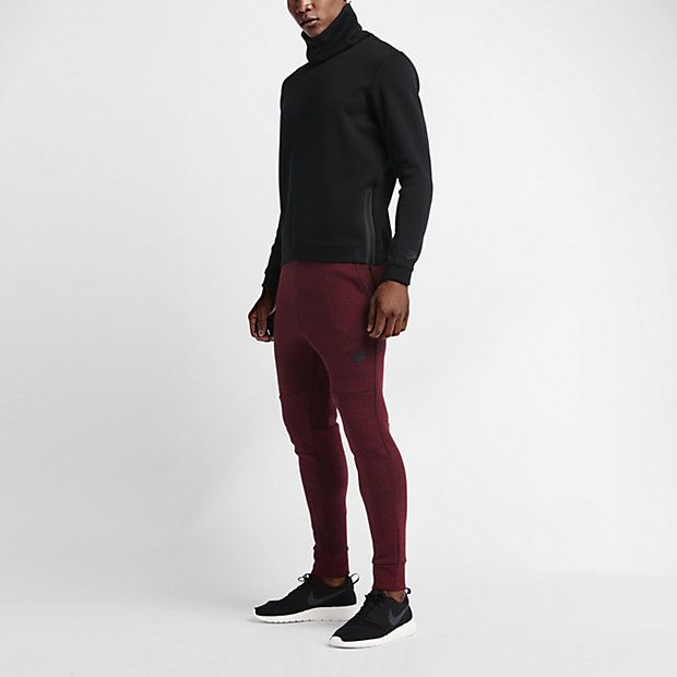 Nike tech fleece red black