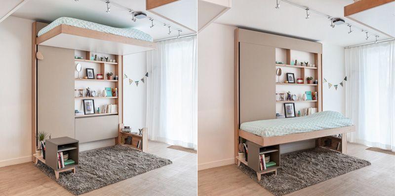 Bedup By Atelier Decadrages Einzimmerwohnung Einrichten Loft