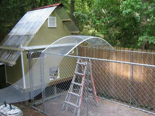 Chicken Run Roof Chicken Fence Chickens Backyard Chicken Runs
