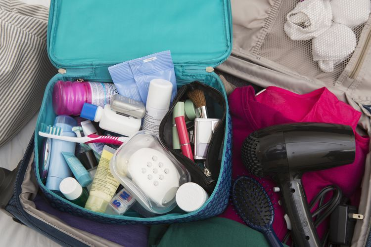 Here's how to pack toiletries, makeup and grooming products in a carry-on bag