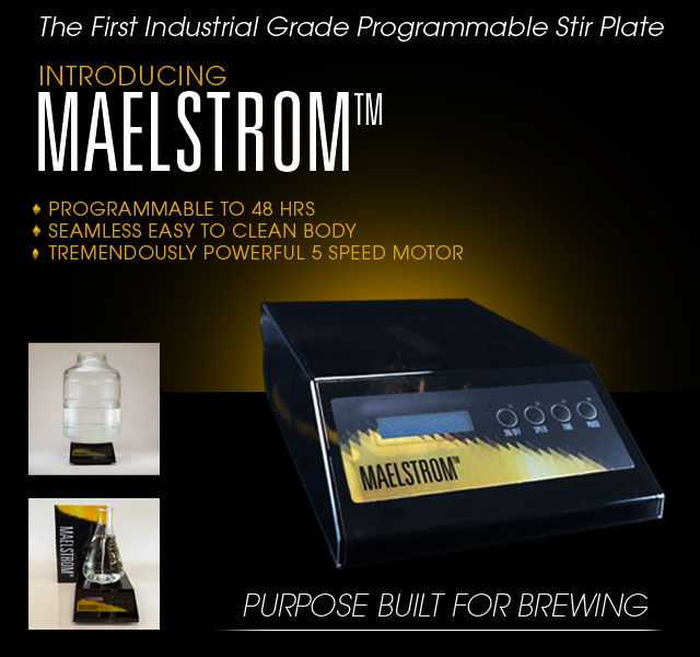 New Maelstrom Stir Plate from Northern Brewer - Use with a 1L Flask all the way up to... a 5 Gallon Carboy! Purpose made for brewing. Seamless, easy to clean body. Powerful 5 speed motor. Check...