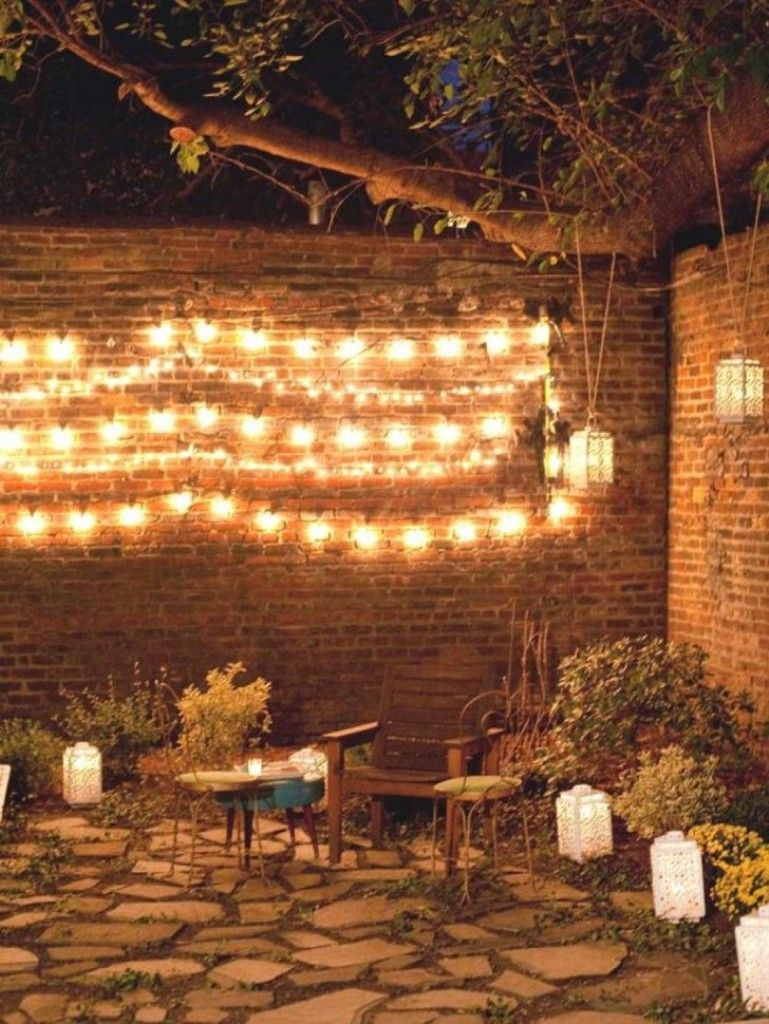 How To Decorate A Brick Wall In The Garden Google Search