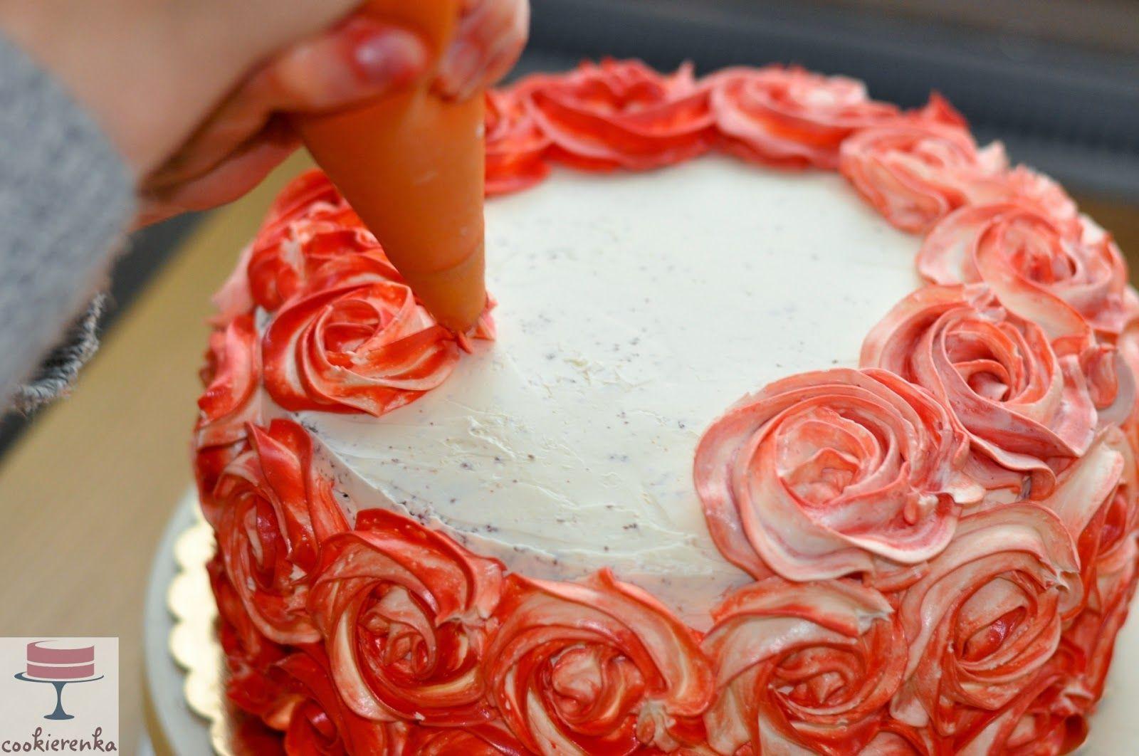 Kwiatki Z Kremu Na Tort Szukaj W Google