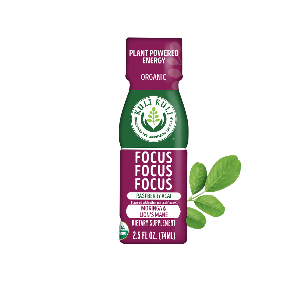 Green Tea Energy Plus Shot - Raspberry Acai Moringa & Lion's Mane - 2.5 oz