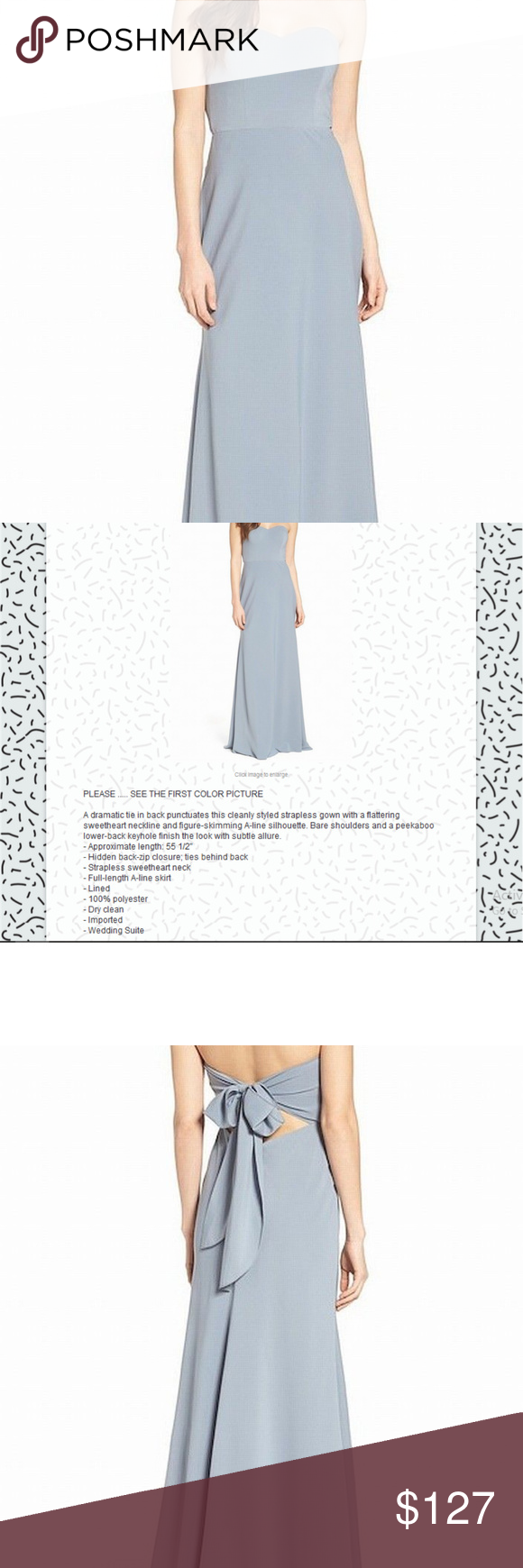5fe0cf58343 Jenny Yoo Kylie Cut Out Tie Back Gown 2  155AT The dress is come tag ...