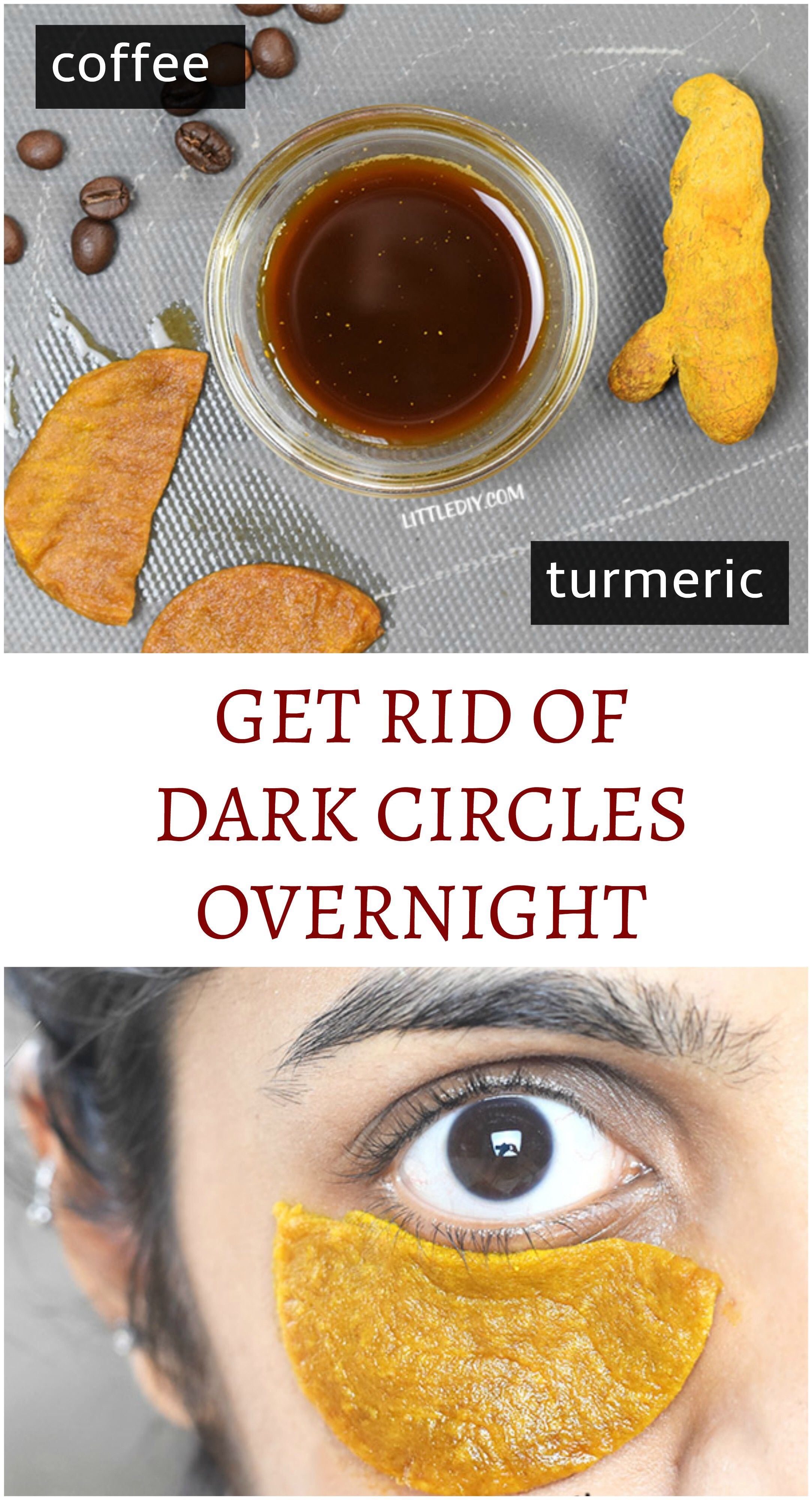 OVERNIGHT TURMERIC EYE PADS FOR DARK CIRCLES | Dark circle ...