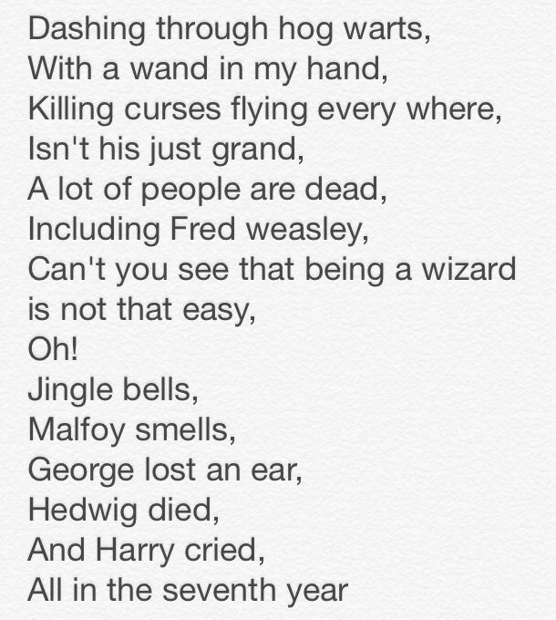 Harry Potter Song To The Tune To Jingle Bells